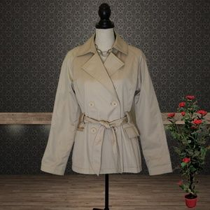 Express Tan Belted Trench Coat Size Small